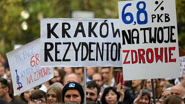 Marsz poparcia dla protestu rezydentów