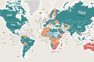 Powstała mapa, która pokazuje marzenia turystyczne w różnych krajach. Jest jeden zdecydowany zwycięzca