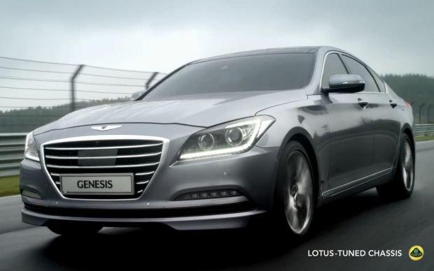 Hyundai Genesis z zawieszeniem Lotusa | Wideo