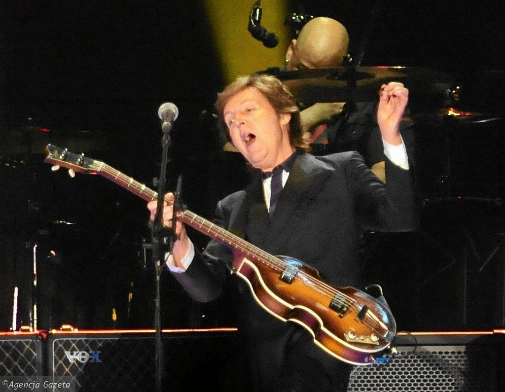 Paul McCartney podczas koncertu w Warszawie