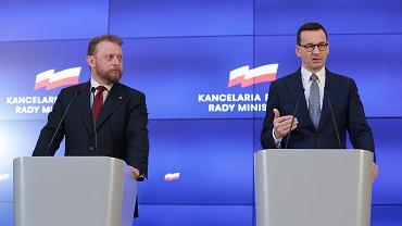 Konferencja Premiera Mateusza Morawieckiego dot. epidemii koronawirusa w Polsce. warszawa, 10 marca 2020