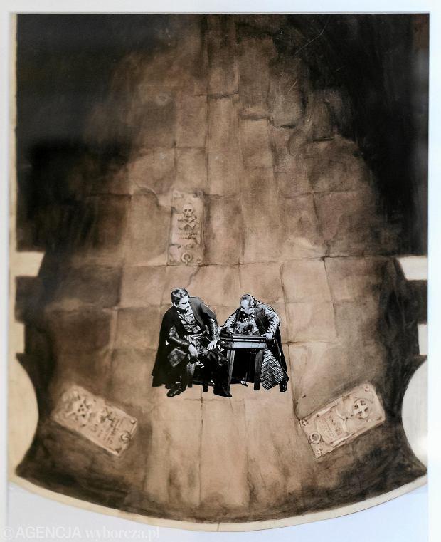 Projekt scenografii Jerzego Moskala do 'Wyzwolenia' Wyspiańskiego