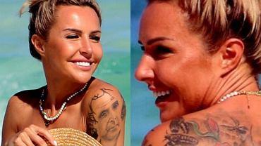Blanka Lipińska spaceruje topless po plaży w Meksyku. Wiedzieliście, że na plecach ma wielki tatuaż?