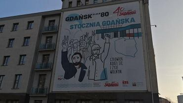 Baner na siedzibie 'Solidarności'