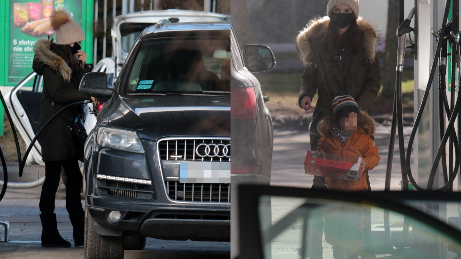 Paparazzi dopadli Martę Kaczyńską na stacji paliw. Auto robi wrażenie. My jednak patrzymy na jej syna. Stanisław wyrósł