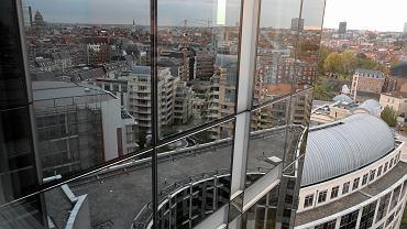 Panorama Brukseli widziana z siedziby Parlamentu Europejskiego