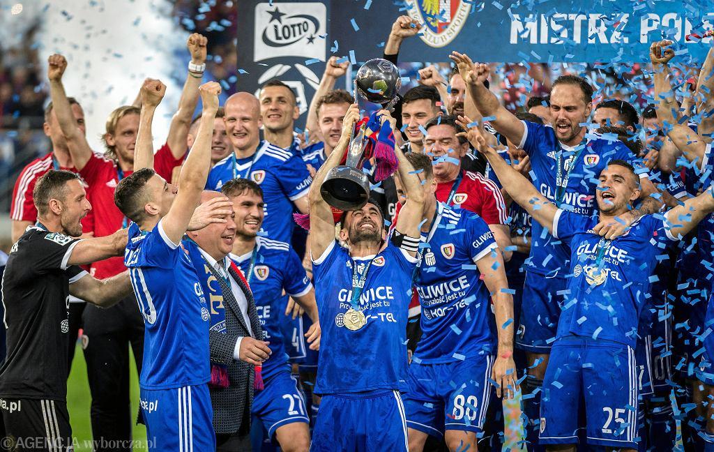 Piast Gliwice po zdobyciu mistrzostwa Polski