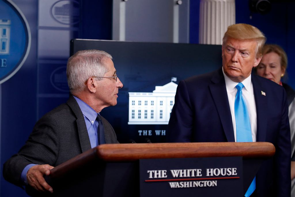 Dr. Anthony Fauci i Donald Trump.