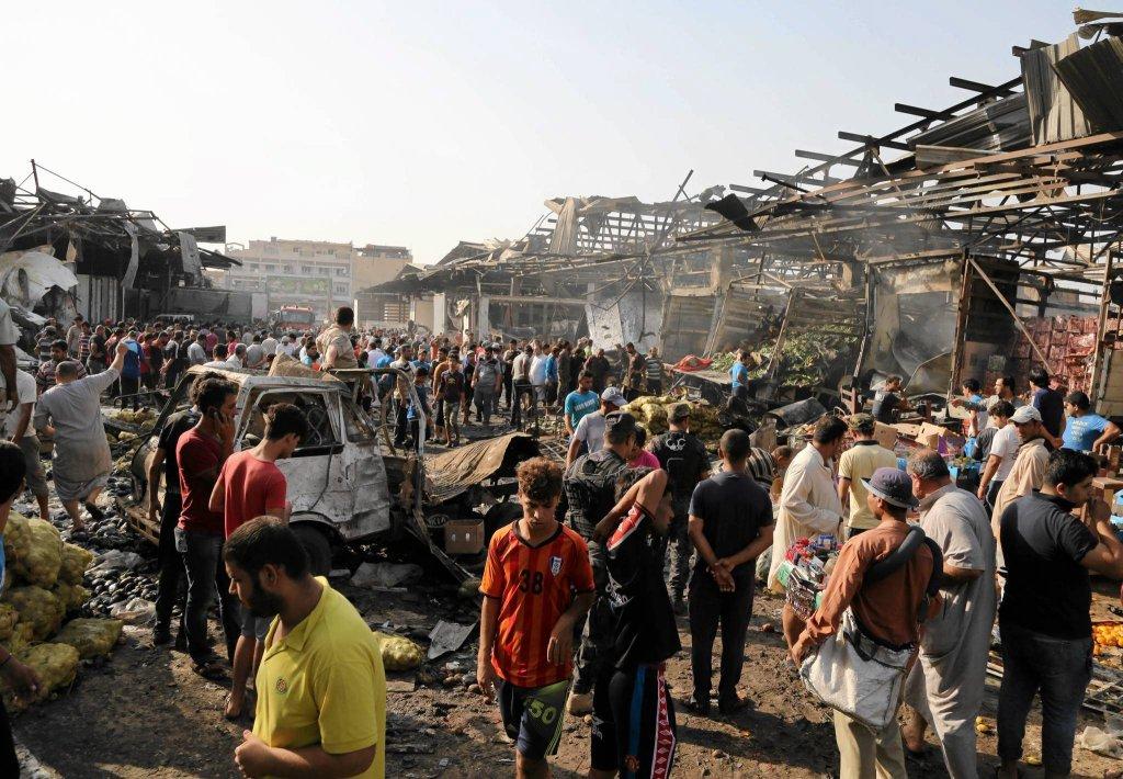 Irak: Zdjęcia z Bagdadu po ataku terrorystycznym Państwa Islamskiego