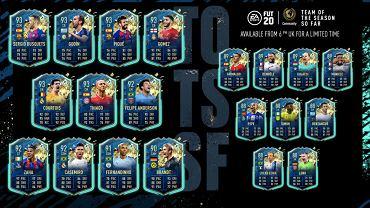 Team Of The Season w FIFA 20 Ultimate Team wybrany przez graczy EA Sports. Źródło: Twitter