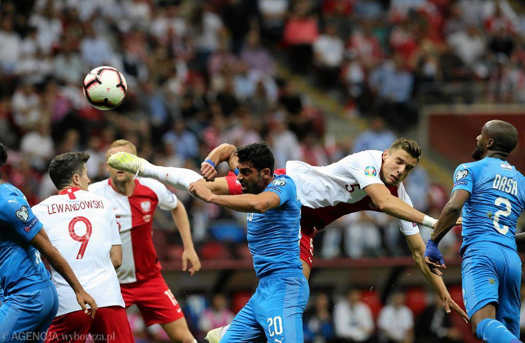 Mecz Polska - Izrael na Stadionie Narodowym w czerwcu 2019 r.