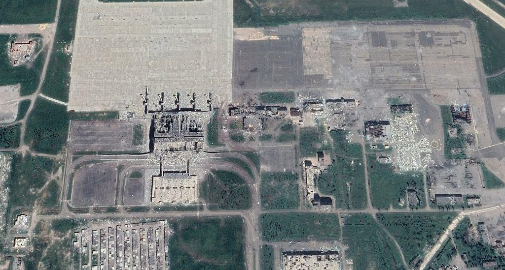 Zniszczone lotnisko w Doniecku, kilka miesięcy po ustaniu walk. Rok 2015