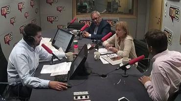 """Gośćmi Macieja Głogowskiego w """"EKG"""" byli: Andrzej Arendarski, Lidia Adamska i Ignacy Morawski"""
