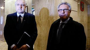 Gianni Buquicchio, przewodniczący Komisji Weneckiej, i szef Trybunału Konstytucyjnego Andrzej Rzepliński. To kwestię TK badała Komisja - a jej ekspertyza i opinia są niekorzystne dla PiS