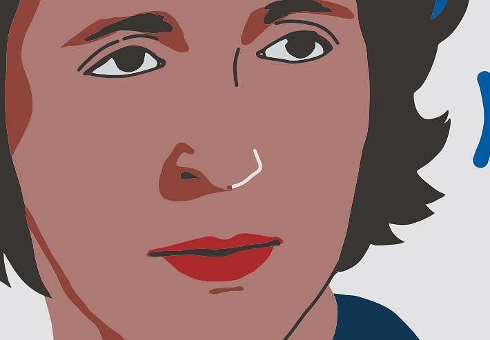 Anna Kurska, fragment muralu 'Kobiety Wolności'
