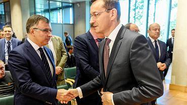 Prezes PKO BP Zbigniew Jagiełło oraz premier Mateusz Morawiecki