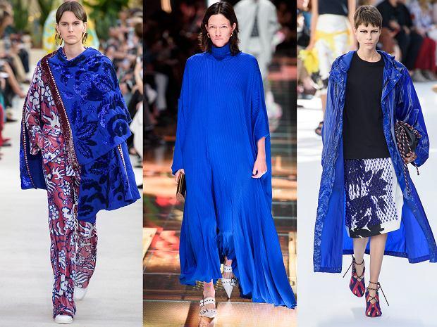Kolor chabrowy w kolekcjach wiosna-lato 2019 Valentino, Balenciaga i Dres Van Noten