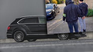 Bentley Bentayga w 'dziupli' na Wilanowie
