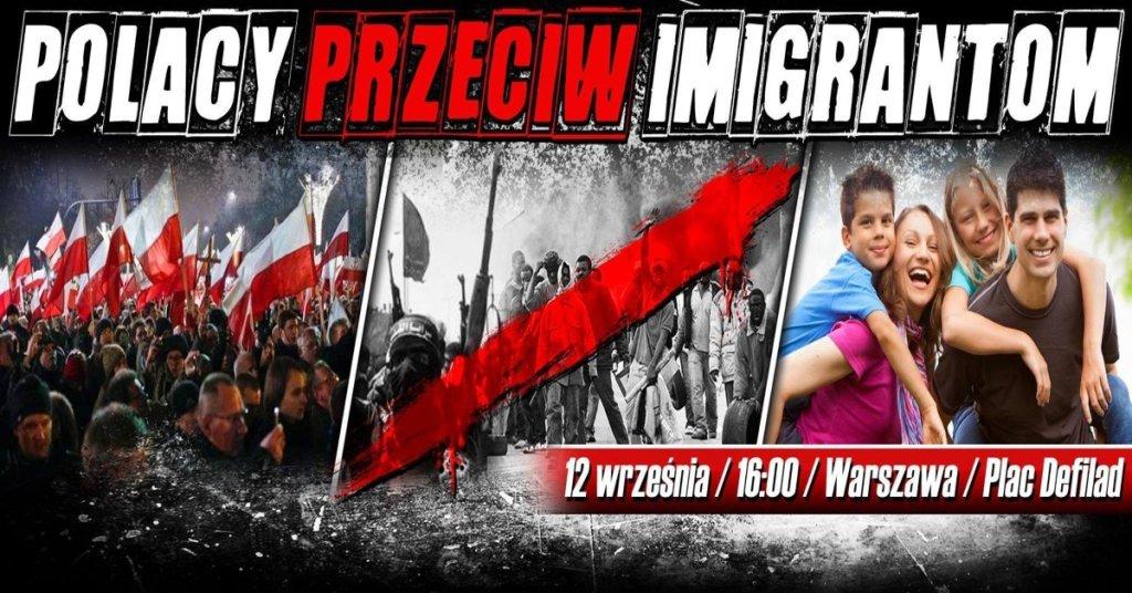 Manifestacja przeciw imigrantom