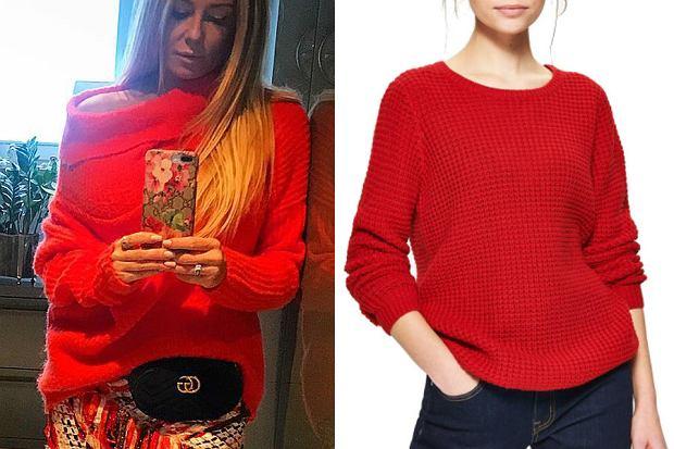 rozenek w tanim swetrze