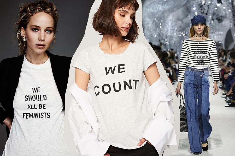 feministyczne koszulki Dior