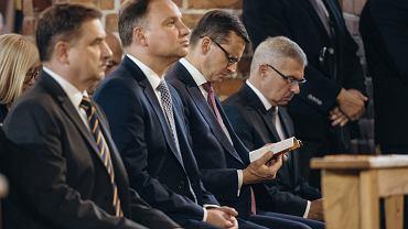 Msza święta z okazji obchodów 38. rocznicy Sierpnia'80, podpisania Porozumień Sierpniowych oraz powstania NSZZ ' Solidarność '  z udziałem prezydenta, premiera i członków rządu, 31 sierpnia 2018.