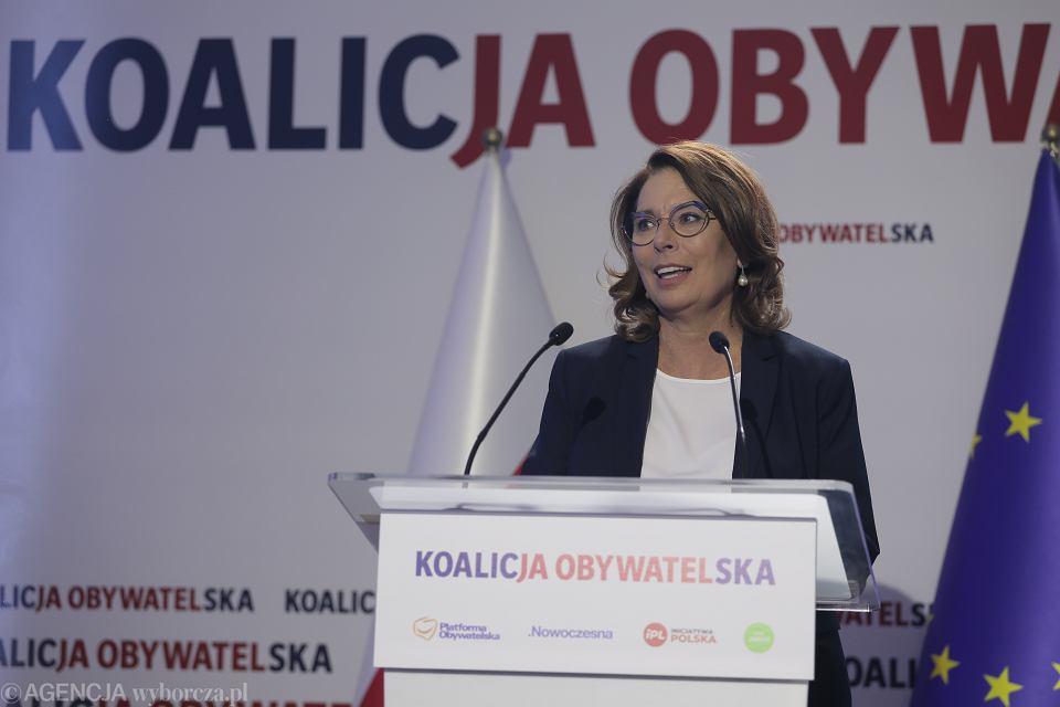 Małgorzata Kidawa-Błońska podczas konwencji Programowej KO. Warszawa, 6 września 2019