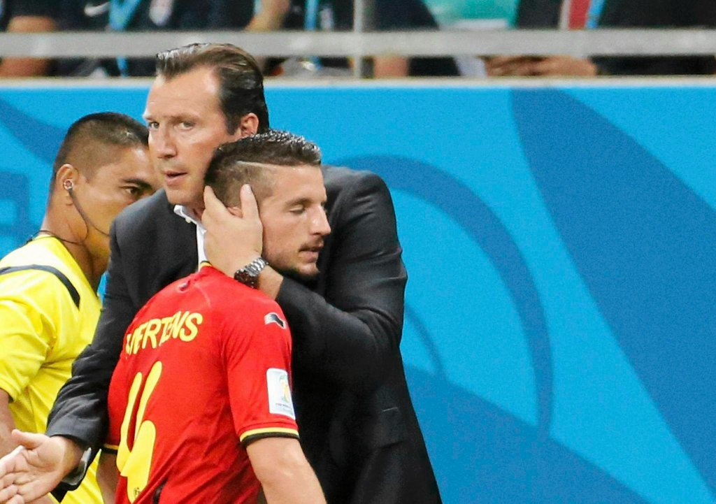 Dries Mertens i Marc Wilmots
