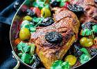 Kurczak z warzywami i z suszonymi śliwkami