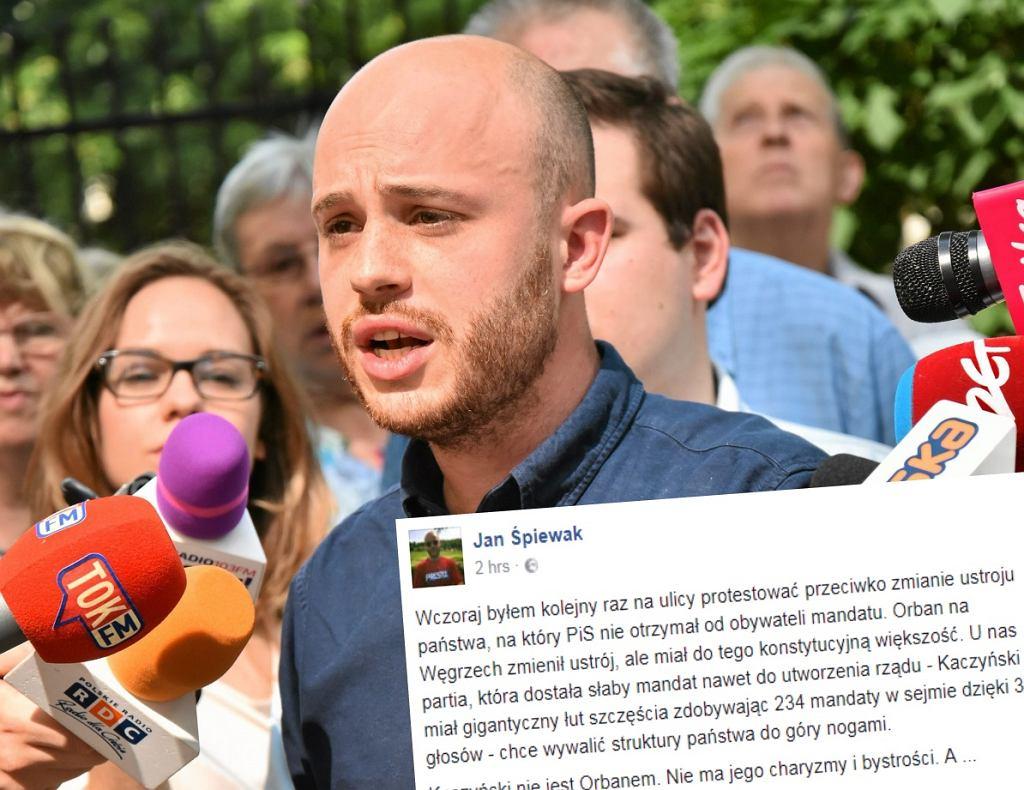 Jan Śpiewak miażdży opozycję