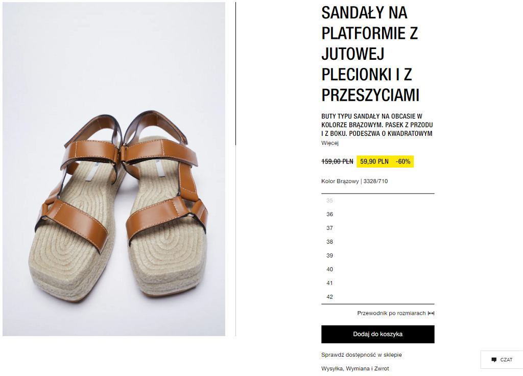 Sandały espadryle na słomianej podeszwie