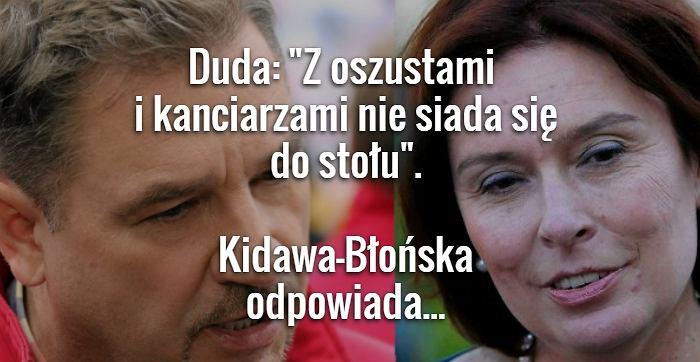 Piotr Duda i Małgorzata Kidawa-Błońska