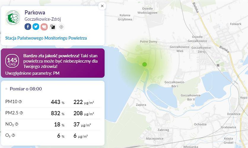 Smog w Polsce. W Goczałkowicach-Zdroju poziom PM2,5 przekroczył 800 proc. normy (zdjęcie ilustracyjne)