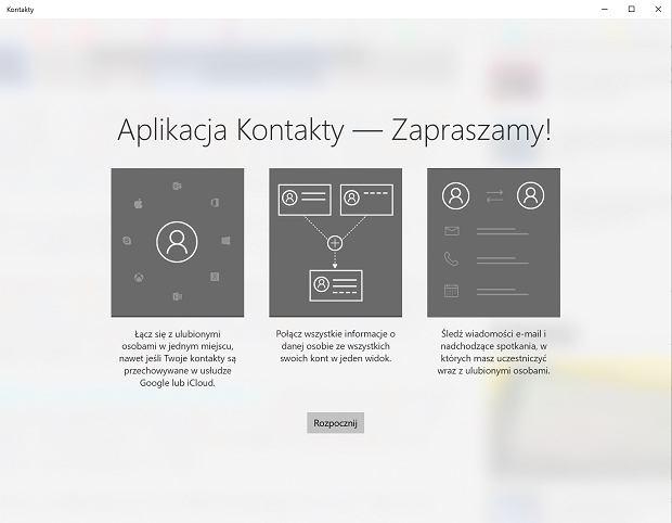 Aplikacja Kontakty