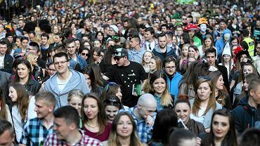 Lublin. Studenci podczas juwenaliów w maju 2016 r.