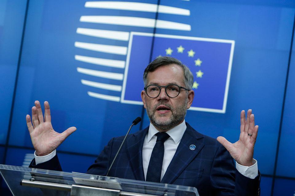 Niemiecki minister Michael Roth w Parlamencie Europejskim
