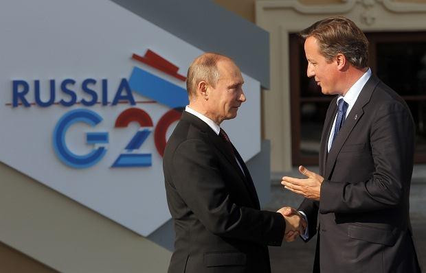 Władimir Putin i David Cameron podczas szczytu G20
