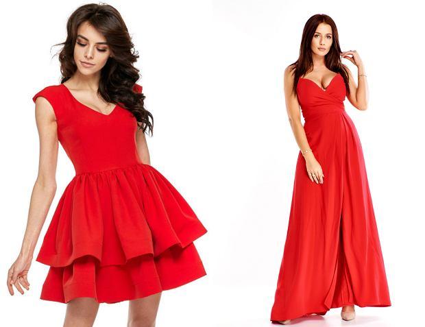 czerwone sukienki, sukienki na sylwestra