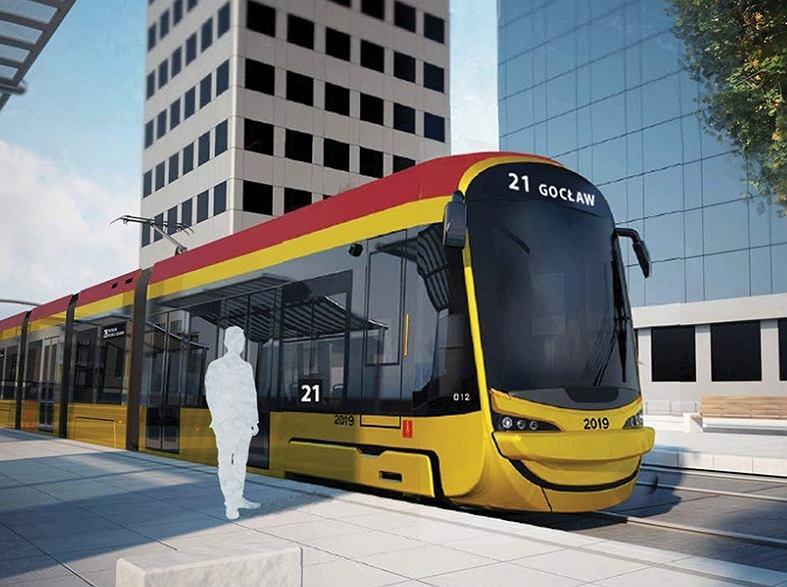 Эти трамваи будут перевозить варшавян с 2021 года.