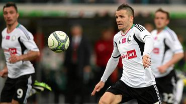 Tomasz Brzyski podczas meczu Legia - Pogoń (3:1)