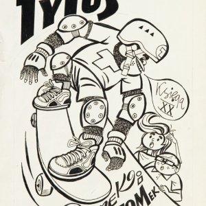 Okładka komiksowa z komiksu Tytus, Romek i A'Tomek, księga XX - Druga wyprawa na Wyspy Nonsensu, 1992 r. Autor: Henryk Jerzy Chmielewski, tusz/papier, 37 x 27,5 cm. Cena wywoławcza: 14 tys. zł, Estymacja: 18-25 tys. zł