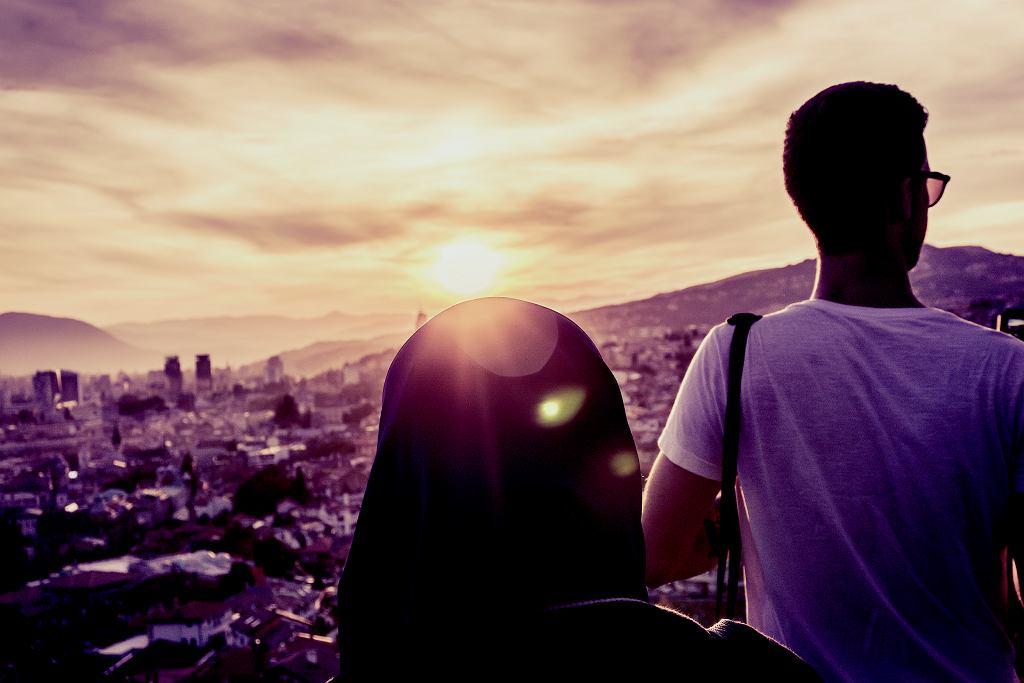 Widok z Zutej Tabiji na Sarajewo