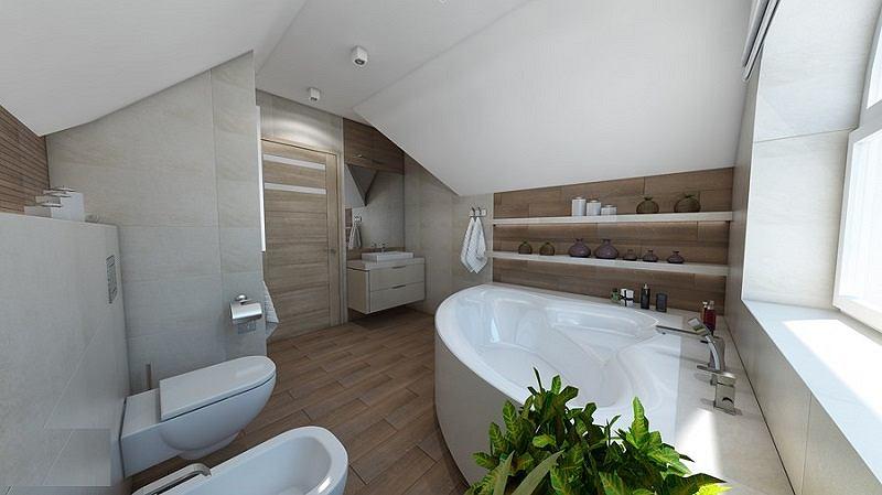 Łazienka w stylu nowoczesnym z wanną