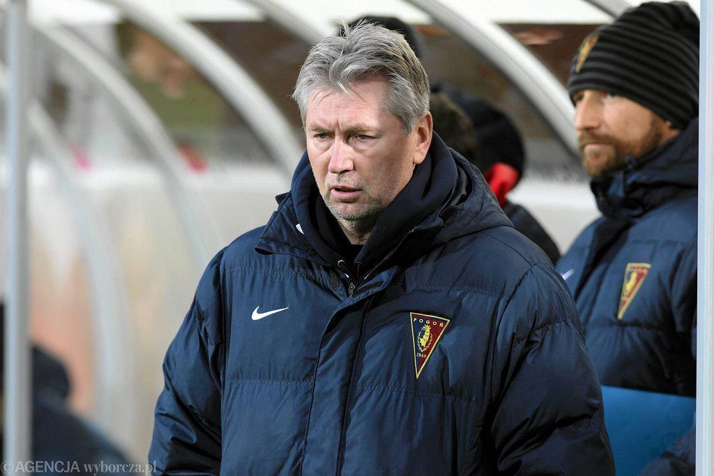 Trener Jan Kocian i Maciej Stolarczyk