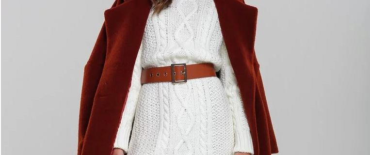 Zimowe ubrania w bieli - modne sweterki i dzianinowe sukienki. W nich stworzysz piękne stylizacje!