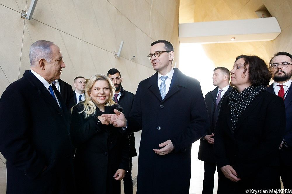 Mateusz Morawiecki i Benjamin Netanjahu w Muzeum Polin