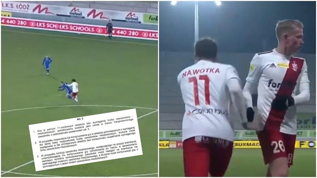 Zmiana w ŁKS-ie w czasie meczu z Miedzią Legnica wywołała duże zamieszanie