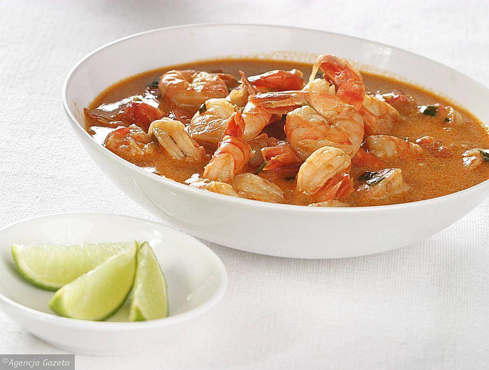 Curry z krewetek