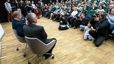 Tomasz Piątek autor książki 'Macierewicz i jego tajemnice' podczas spotkania w Lublinie w siedzibie CSK (19.09.2017)