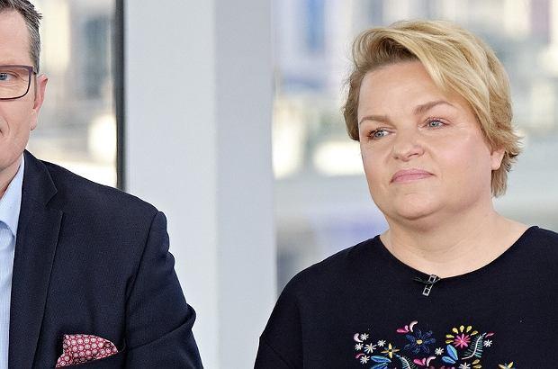 Katarzyna Bosacka z mężem